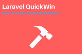 Laravel Anwendung initialisieren